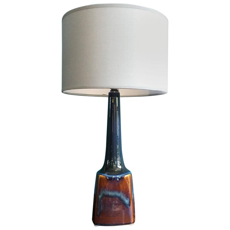 Vintage Danish Ceramic Table Lamp by Soholm, 1960s For Sale