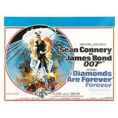 """Diamonds Are Forever"" Film Poster, 1971"