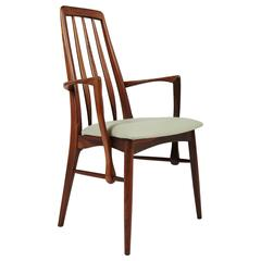 Niels Kofoed Rosewood Dining Chair with Arms, circa 1964