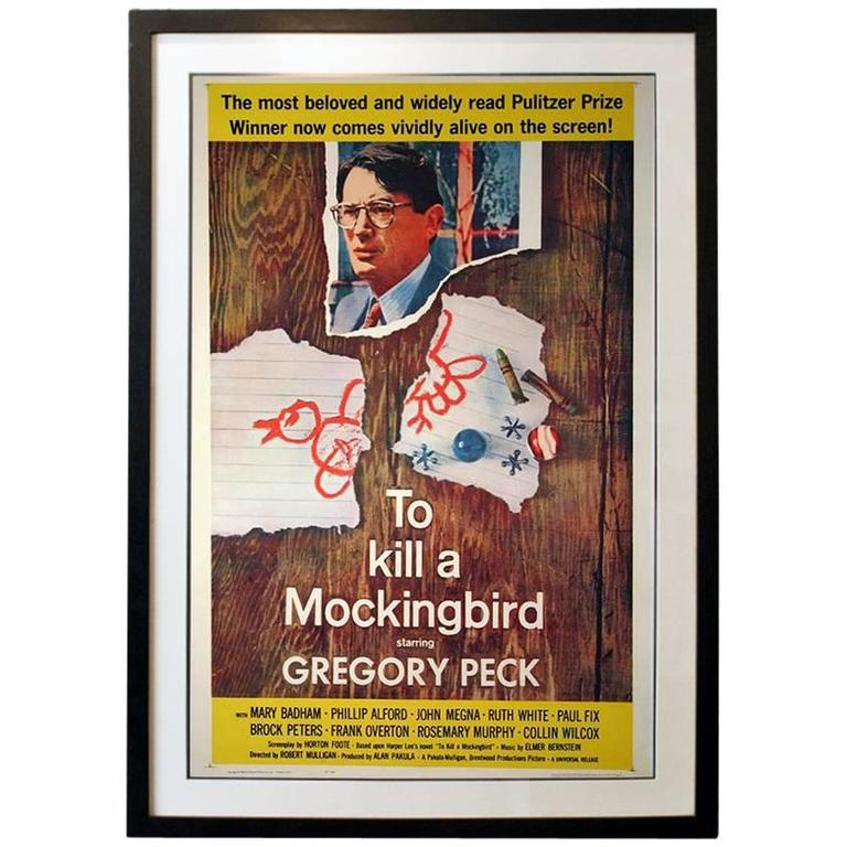 """""""To Kill A Mockingbird"""" Film Poster, 1962 For Sale At 1stdibs"""