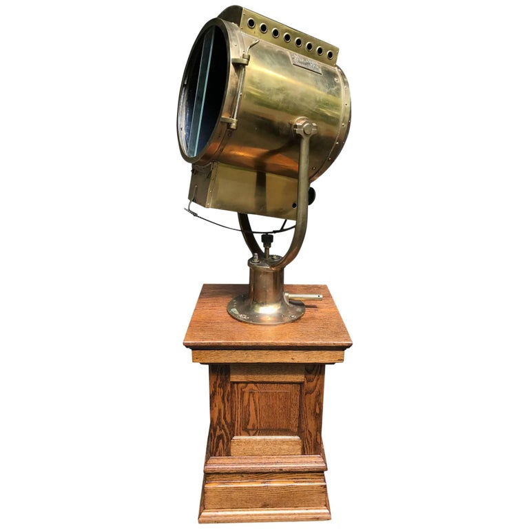 Massive WWII Searchlight by Carlisle & Finch For Sale