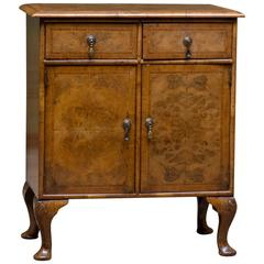 English Walnut Side Cabinet