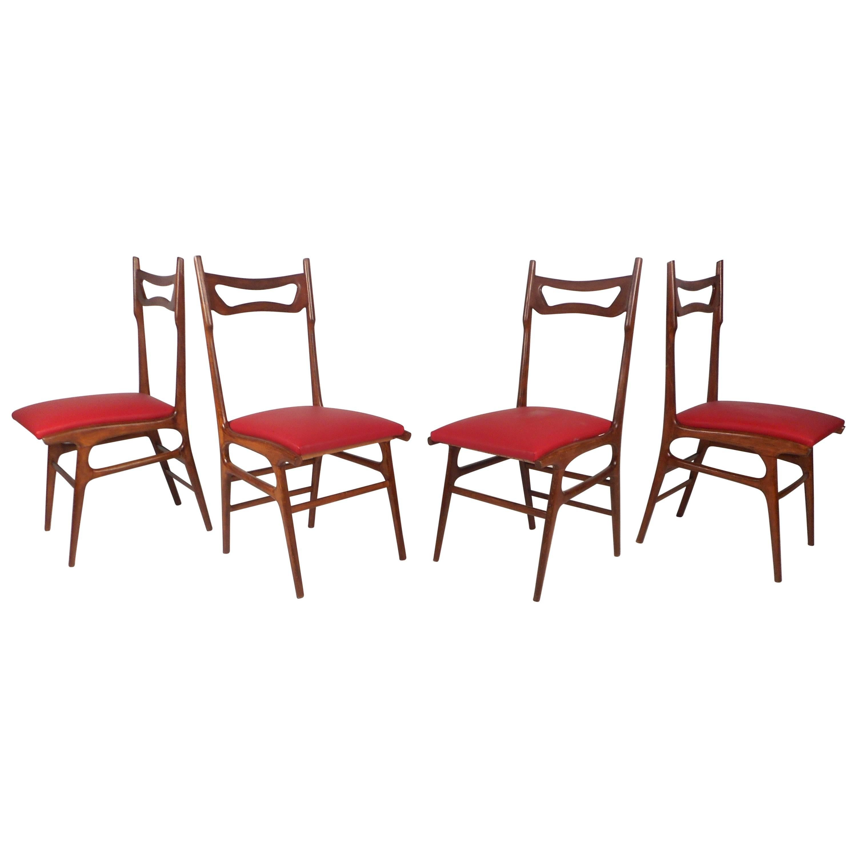 Set of Mid-Century Modern Italian Dining Chairs
