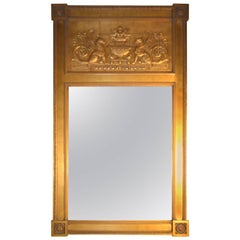 Empire Style Giltwood Looking Glass