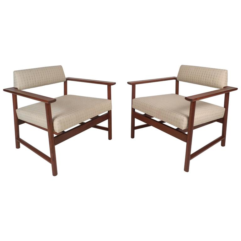 Mid-Century Modern Armchairs by Harvey Probber