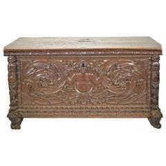 Continental Carved Walnut Chest