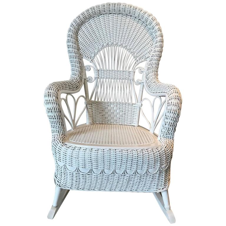 Delicieux Antique Wicker Rocker For Sale