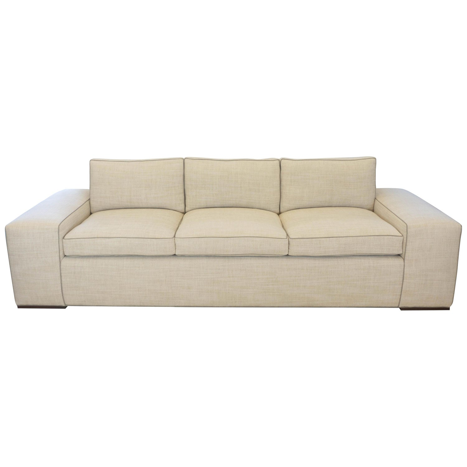 Contemporary Square Arm Sofa With Loose Cushions For Sale At 1stdibs
