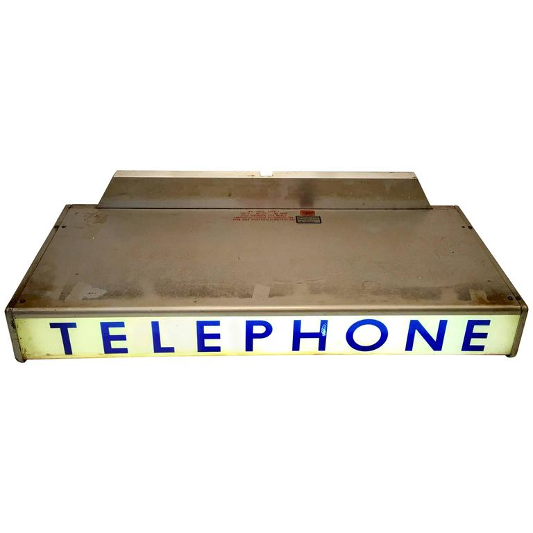 1930'S Western Electrical Co. Telephone Booth Light Box