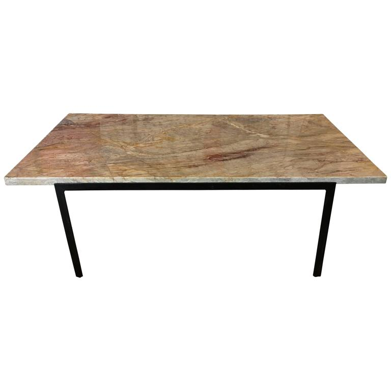 Florence knoll marble t angle coffee table for knoll associates 1960 at 1stdibs Florence knoll coffee table