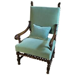 Grand 19th Century French Renaissance Armchair with Lions