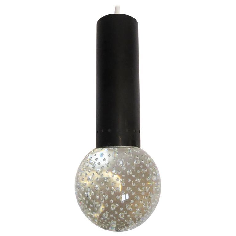 Gino Sarfatti / Seguso Bubble Glass Pendant Lamps for Lightolier- 5 Available