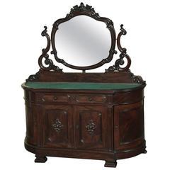 Napoleon III French Solid Mahogany Dresser, Vanity, circa 1850