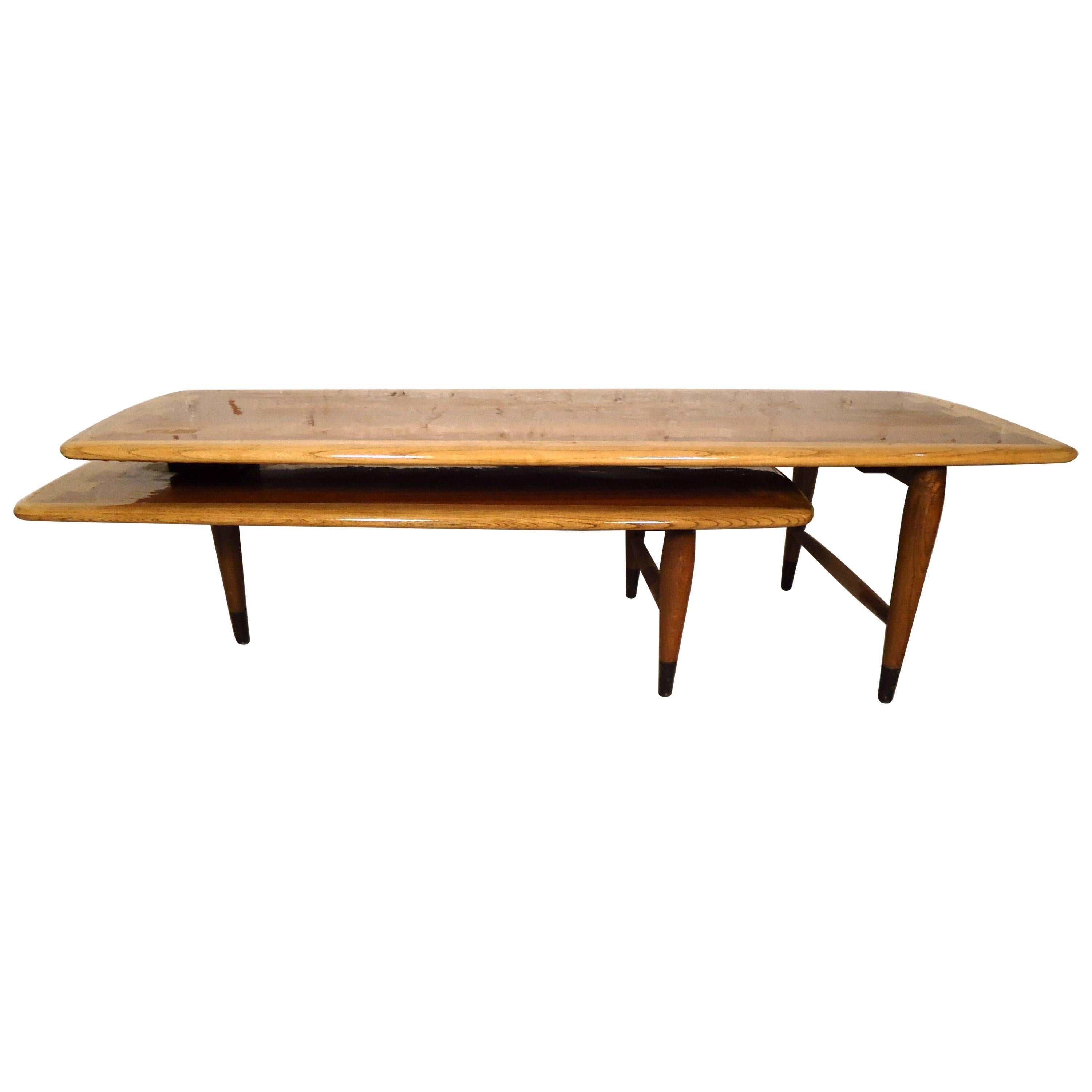 Mid-Century Modern Two-Tier Coffee Table