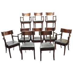 Set of Ten Dinning Chairs by Mirak