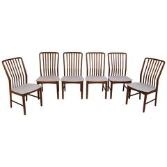 Set of Six Teak Chairs by Svend Madsen for Moreddi