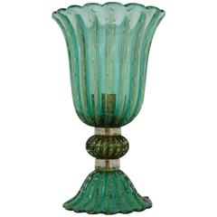 Emerald Green Murano Table Lamp