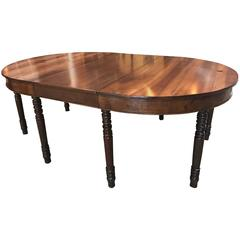 Stunning 18th Century, Italian Oval Extending Walnut Dining Table