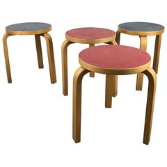 Four Stacking Stools, Model 60 by Alvar Aalto, Designed in 1933