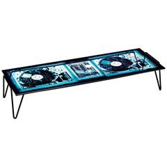 Moroso Xraydio Coffee Table in X-Ray Printed Plate Glass and Raw Black Steel