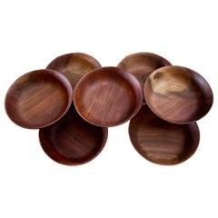 Seven Bob Stocksdale Black Walnut Hand-Turned Bowls