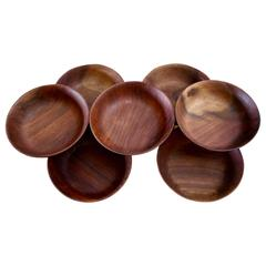 Seven Bob Stocksdale Black Walnut Hand-Turned Bowls
