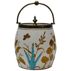 19th Century Biscuit Jar with Crow Claws