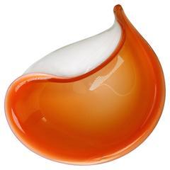 Alfredo Barbini Italian Mid-Century Modern Murano Glass Bowl, 1950s