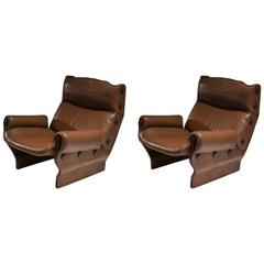 "Pair of ""Canada"" Lounge Chairs by Osvaldo Borsani for Tecno"