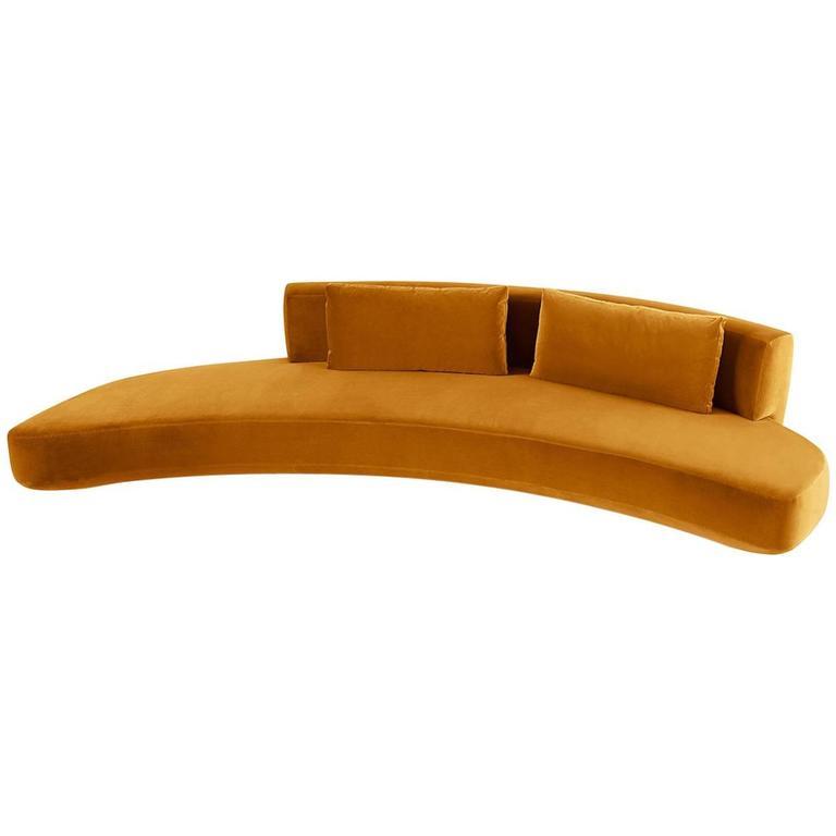 Gallotti & Radice Round Audrey Sofa in Velvet, Fabric or Leather in 2 sizes