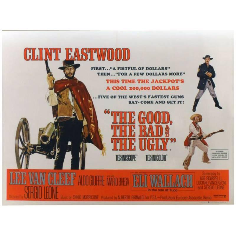 """""""The Good, The Bad and The Ugly"""" Film Poster, 1966"""