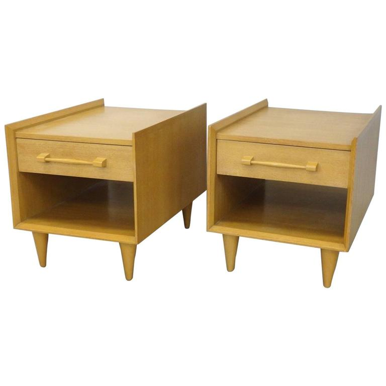Sherman Bertram Pair of California Modern Side Tables For Sale