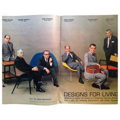 July 1961 Playboy F/T Masters of Mid-Century Design, Eames Bertoia Saarinen