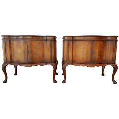 Pair of Early 20th Century Queen Anne Commodes