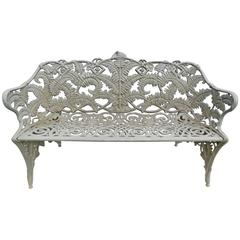 Garden Bench, Fern Pattern, Antique Cast Iron