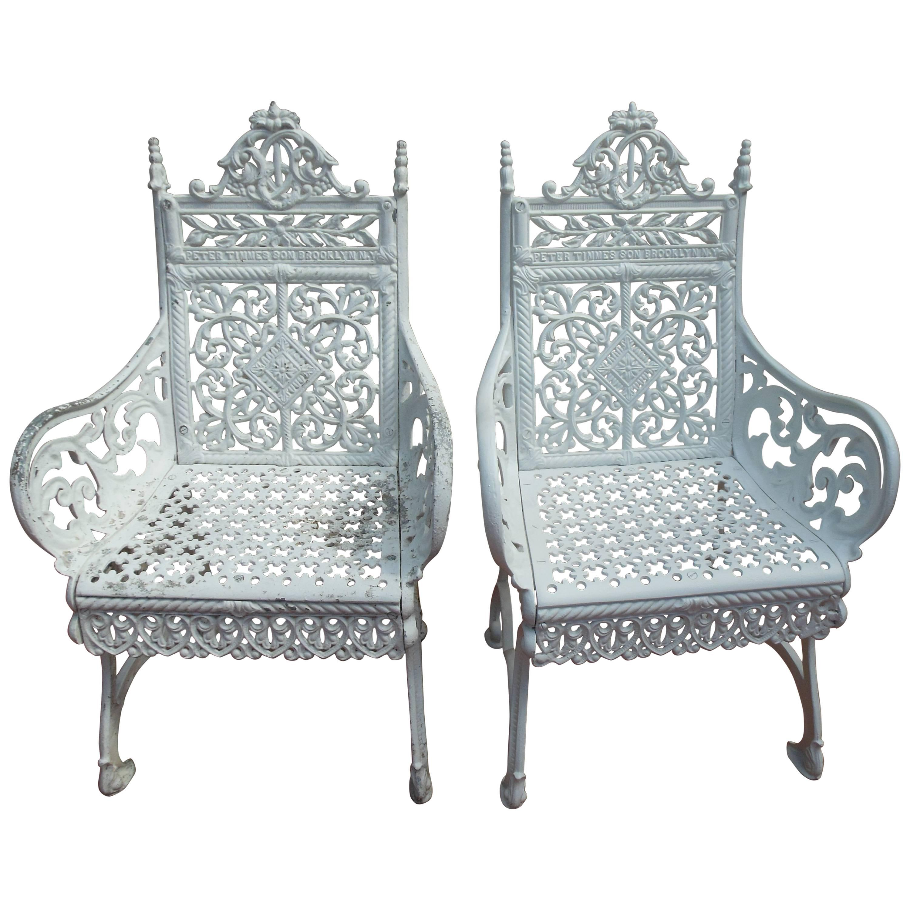 Cast Iron Peter Timmes Chairs Brooklyn Ny At 1stdibs