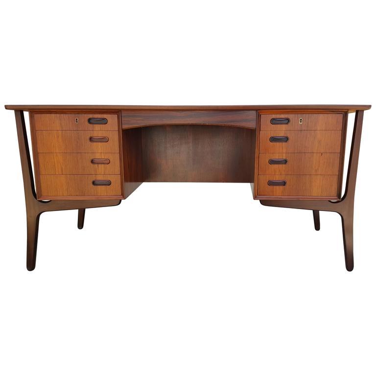 Danish Modern Rosewood Desk by Svend Madsen 1