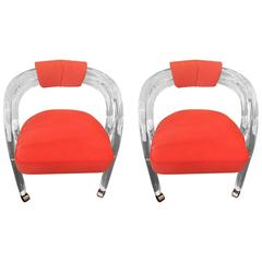 Pair of Lucite Chairs by Hill Manufacturing & Company
