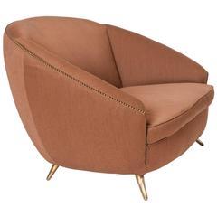 Small Curved Italian Sofa