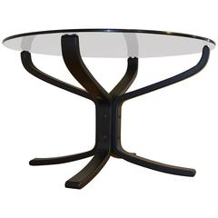 Black Falcon Glass Table Sigurd Ressell Vatne Mobler, Norway