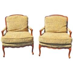 Pair of Baker Louis XVI Style Fauteuils