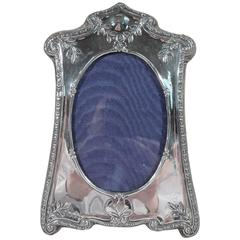 English Edwardian Art Nouveau Sterling Silver Picture Frame