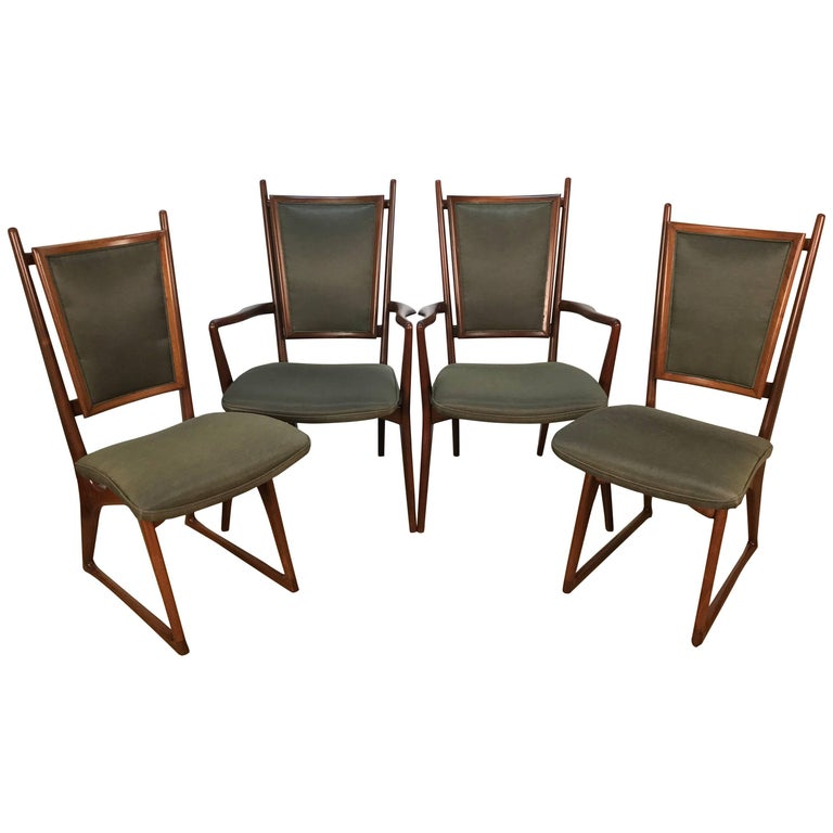 Four Vladimir Kagan Dining Chairs For Sale
