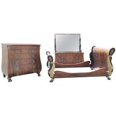 Magnificent Three-Peice French Empire Style Bedroom Set Mann, Charles Lannieure