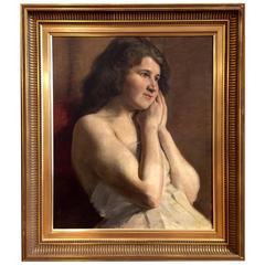 Late 19th Century Portrait, Carl Thomsen, Copenhagen
