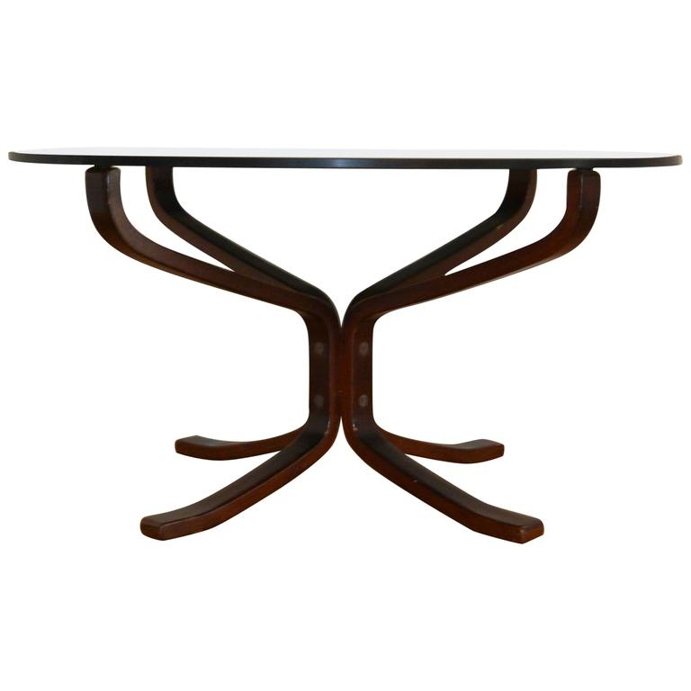 Falcon Glass Table Designed by Sigurd Ressell for Vatne Møbler, Norway