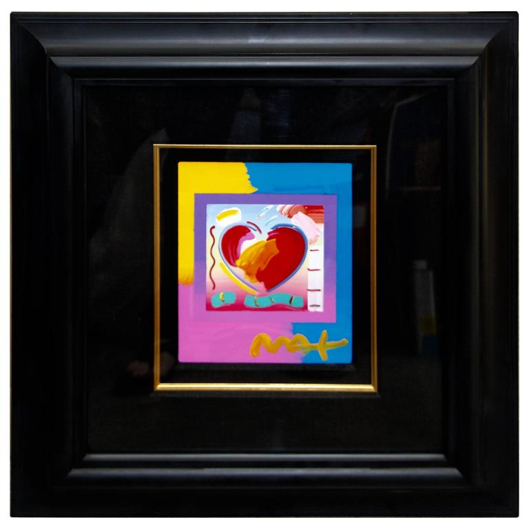 """Peter Max """"Heart on Blends"""" 2006 Mixed Media with Acrylic 1"""