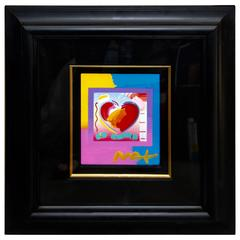 "Peter Max ""Heart on Blends"" 2006 Mixed Media with Acrylic"