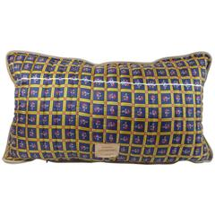 Quilted Vintage Silk Pillow Byborre