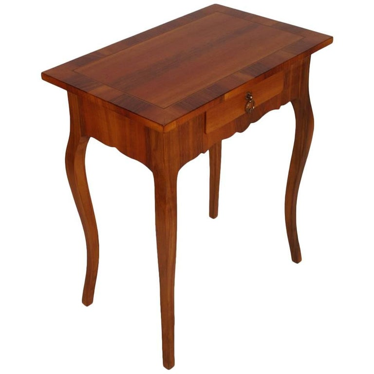Early 20th Century Side Table, Nightstand Walnut and veneer Walnut inlay , 1920s For Sale